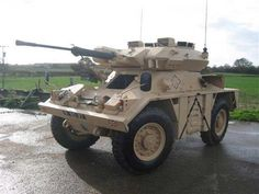 combat vehicle recon wheeled CVR(w) Fox armoured car Army Vehicles, Armored Vehicles, Patton Tank, Armoured Personnel Carrier, Military Weapons, Military Car, Tank Armor, Offroad, Bug Out Vehicle