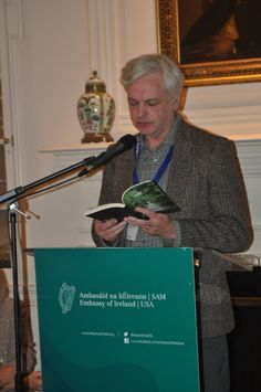 Author and playwright, Seamus Scanlon, reading The Long Wet Grass piece in the Embassy of Ireland in Washington, D.C. as part of the American Conference for Irish Studies (ACIS), hosted by Cóilín Parsons and Georgetown University.  It was the winner of Fish Publishing 's flash fiction competition in 2011 - with Clem Cairns, Emjay Holmes and Jula Walton.   Then it was produced as play in NYC by Nancy Manocherian's the cell in 2014. Now there is a The Long Wet Grass film. The opera is next.