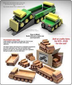 Table Saw Magic Super Hauler Wood Toy Plan Set