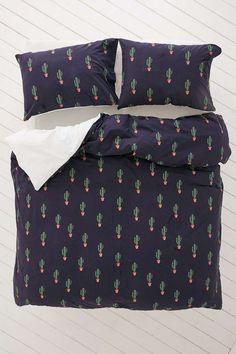 Blue Cactus Print Duvet Set - Urban Outfitters