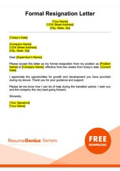 Fresh How To Write A Resignation Letter Sample Free Letterbuis