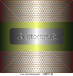 Shiny silver metal background.shiny yellow metal.gold plate with hexagon holes style design