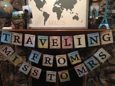 Wedding Shower Travel Banner Travel, Wedding, Shower, Bridal shower, Travel Bridal Shower, Traveling from Miss to Mrs.  Travel Banner