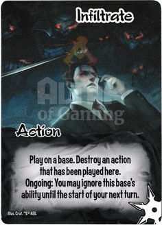 Infiltrate - Ninjas - Smash Up Card | Altar of Gaming