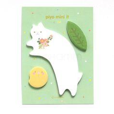 1 Pics Kawaii Cute Cat Rabbit Bear Korean Stationery Scrapbooking Stickers Post It Sticky Notes Memo Pad Bookmark Paper School