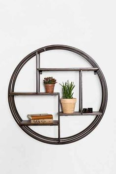 4040 Locust Wooden Circle Wall Shelf - Urban Outfitters