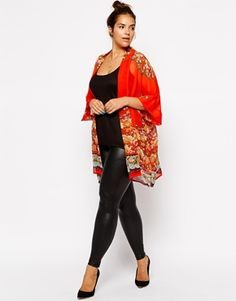 Image 4 of ASOS CURVE Kimono In Placement Print  http://wholesaleplussize.clothing/