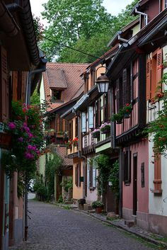 Charming streets of Kaysersberg, Alsace / France. Image via: visitheworld.tumblr.com