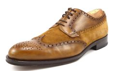 Magnanni Mens Shoes Size 9.5 Rolo Suede & Leather Wingtips 12894 Brown #distinctivedeals #mensfashion