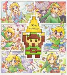 The Legend of Zelda's 30th Anniversary, by @BMO_N