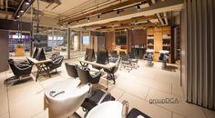 """New-Delhi based Group DCA has helmed a """"minimalist chic"""" design for L'Oreal Training Academy — the brand's first training center that's transformational Training Academy, Minimalist Chic, New Delhi, Loreal, Online Publications, Interior Design, Industrial, Furniture, Home Decor"""