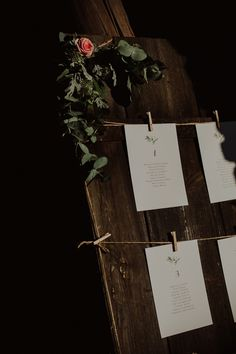 rustic wedding / guest list at the wedding / green / fot. Ola Gruszka Fotografia
