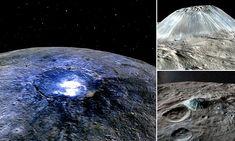 Ceres' vanishing volcanoes: Dwarf planet once had 22 'cryovolcanoes' Dwarf Planet, University Of Arizona, Volcanoes, Planets, Articles, Science, Space, Floor Space, Volcano