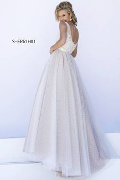 long, light, formal prom gown
