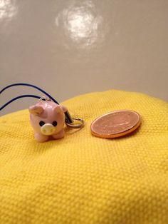 mini pig clay charm