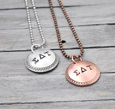 Sigma Delta Tau Necklace Sorority Necklace  by PureImpressions, $24.00