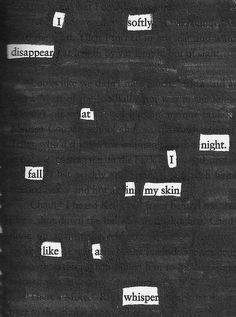 The moon is my confidant, the stars all have names. -Original Blackout Poem via Tyler Knott Gregson-