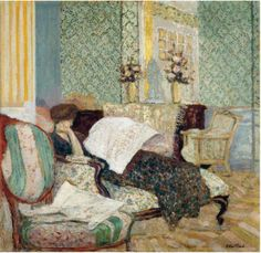 Vuillard, Misia on a Chaise Longue, Vuillard, Edouard (1868-1940)