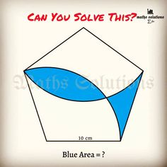 Geometry Problems, Math Tutorials, Maths Solutions, Blue Area, Mathematics, Letters, Learning, Instagram, Math