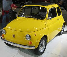 Fiat 500 (1950's) - The Italians' answer to the VW Bug - what a cutie!  They have a new Fiat 500 (2007) now, and it's a very cute car too.