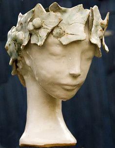 ceramic, head vase
