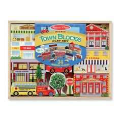 Block play meets role play in this appealing city block set, containing everything children need to create a busy miniature world. The 35 wooden blocks include buildings, street signs, vehicles and trees, and they're perfect for building, moving and make-believe All the pieces store neatly in a sturdy wooden tray.