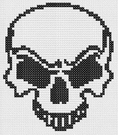 Risultati immagini per small skull cross stitch pattern