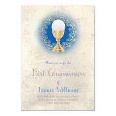 First Communion catholic boy Invitation   Zazzle.com