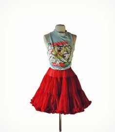 Vintage Burgundy Red Petticoat Square Dancing Full by Idlized, $48.00
