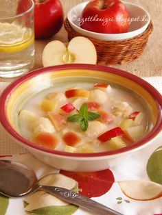 Apple soup with rice dumplings - Almaleves rizsgombóccal - Az otthon ízei Apple Soup, Eat Pray Love, Tasty, Yummy Food, Hungarian Recipes, Goulash, Dumplings, Cheeseburger Chowder, Thai Red Curry
