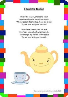 Rhymes Song Book: Classroom Sing-a-longs Classroom Sing-a-longs. 20 popular nursery rhymes great for preschoolers!Classroom Sing-a-longs. 20 popular nursery rhymes great for preschoolers! Nursery Rhyme Crafts, Nursery Rhymes Lyrics, Nursery Rhymes Preschool, Nursery Rhyme Theme, Nursery Rhymes For Toddlers, Rhymes For Kids, Rhyming Preschool, Rhyming Activities, Preschool Music