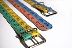 Multicolored Tape Measure Belt  Customizable  door HomeMadeKarma, €18.00