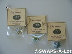 SWAPS-A-Lot %u2013 Mini My Pet Rock SWAPS Kit for Girl Kids Scout (25)