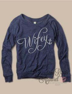 Navy wifey top at freedomringsapparel.com