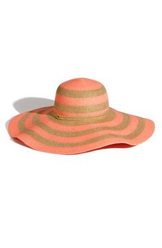 Juicy Couture Stripe Floppy Paper Straw Hat. $78