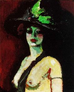 """Kees Van Dongen - """"Femme au grand chapeau"""" 1906"""