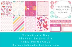 PlanIt! Valentine's Day Planner Stickers – FREE printable!