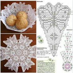 Crochet Tablecloth Pattern, Crochet Basket Pattern, Crochet Doily Patterns, Crochet Motif, Crochet Bowl, Thread Crochet, Crochet Stitches, Crochet Dollies, Crochet Gifts