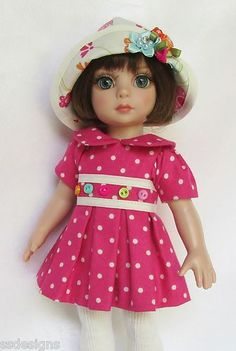 """OOAK Patsy's Bright Blossoms for 10"""" Ann Estelle etc Made by Ssdesigns"""