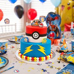 Reward your Poke-master with the ultimate prize: a Pokemon Fondant Cake! Don't forget Pokemon birthday candles & gumballs to decorate!