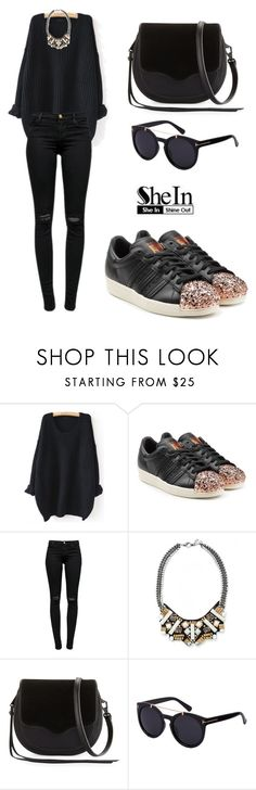 """""""SHEIN Sweater"""" by tania-alves ❤ liked on Polyvore featuring WithChic, adidas Originals, J Brand, Collections by Hayley and Rebecca Minkoff"""