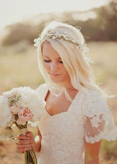 coroa de flores de gipsofila - Pesquisa Google