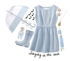 """""""Singing in the Rain"""" by madfashionaddict ❤ liked on Polyvore featuring Mossimo, Hunter, Karen Kane, Savvy Cie, Essie, Drybar, Marc Jacobs, La Prairie, women's clothing and women's fashion"""