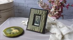 New to NostalgiqueBoutique on Etsy: Antique Edwardian Photo Frame and Original Photo of a young Man Faux Crocodile Skin (29.00 GBP)