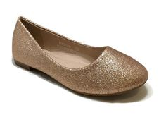 BellaMarie Kids Dress Ballet Flat ROSE GOLD 9 US Toddler