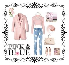 """Pink&Blue"" by justnika on Polyvore featuring Topshop, STELLA McCARTNEY, GUESS, Kate Spade, NARS Cosmetics, women's clothing, women, female, woman and misses"