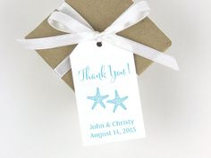 Starfish Wedding Favor Tags, the perfect touch to your beach wedding favors!