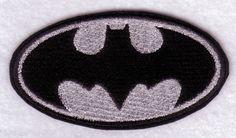 Batman Black/White Embroidered Patch | BritLivie-Handcrafted-Jewels - Needlecraft on ArtFire