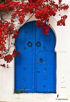 Sidi Bou Said: a Short Guide to the Blue and White Pearl of Tunisia Cool Doors, Unique Doors, Travel Photographie, Door Design, Wall Collage, Windows And Doors, Pretty Pictures, Aesthetic Wallpapers, Architecture
