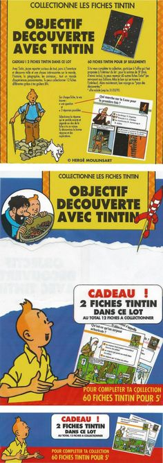Les fiches Tintin des Éditions Atlas
